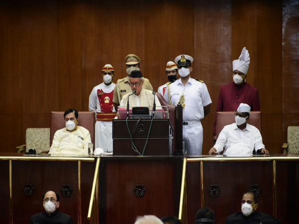 Maharashtra Governor Bhagat Singh Koshyari addressing the joint session (Photo/Twitter)