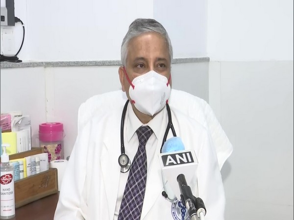 All India Institute of Medical Sciences (AIIMS) Director Dr Randeep Guleria in conversation with ANI. (Photo/ANI)