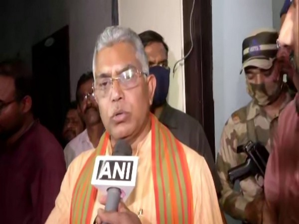 Bharatiya Janata Party (BJP) chief Dilip Ghosh in conversation with ANI. (Photo/ANI)