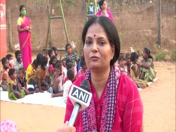Chief advisor of the school, Sabita Patnaik speaking to ANI. (Photo/ANI)