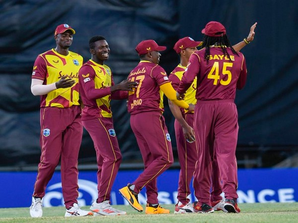 West Indies in action against Sri Lanka (Photo/ Windies Cricket Twitter)