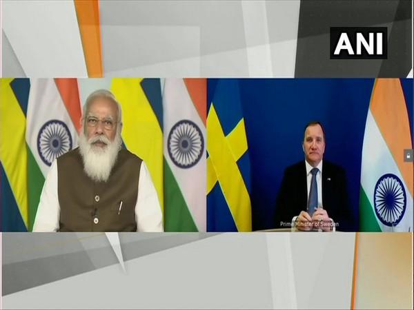 Prime Minister Narendra Modi and Swedish Prime Minister Stefan Lofven