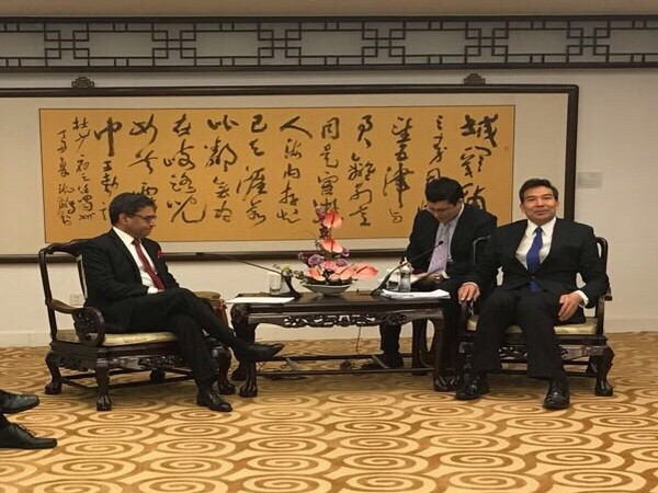 Indian Ambassador to China Vikram Misri on Friday met Vice Foreign Minister Luo Zhaohui in Beijing. (Photo credit: Twitter/India in China)