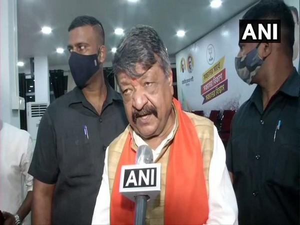 Senior BJP leader Kailash Vijayvargiya speaking to ANI