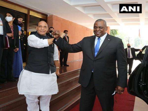 Defence Minister Rajnath Singh and US Defence Secretary Lloyd Austin (File Photo)