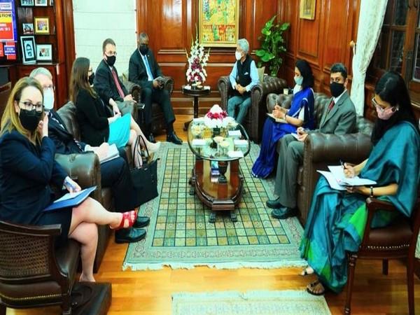 External Affairs Minister S Jaishankar and US Defence Secretary Lloyd Austin
