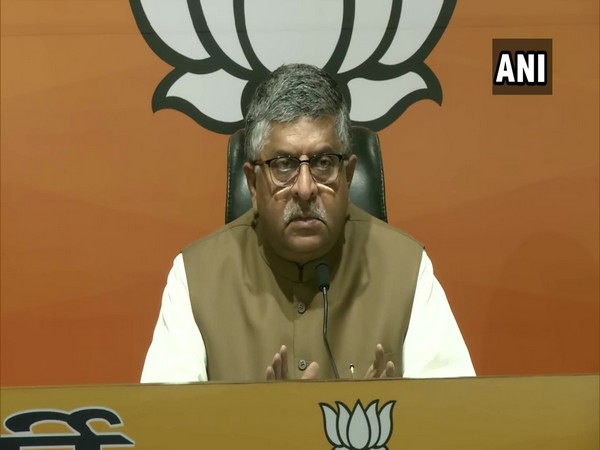 Union Minister Ravi Shankar Prasad (Photo/ANI)