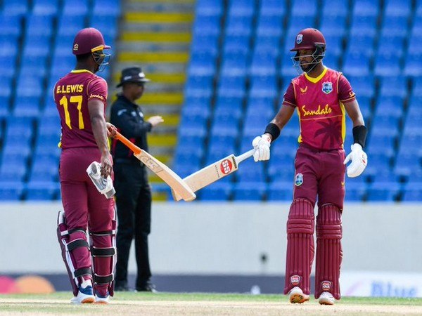 Evin Lewis and Shai Hope in action (Photo/ ICC Twitter)
