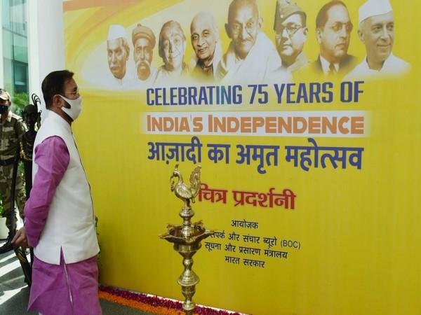 Union Minister Prakash Javadekar inaugurated a photo-exhibition at National Media Center, Delhi (Photo/Twitter)
