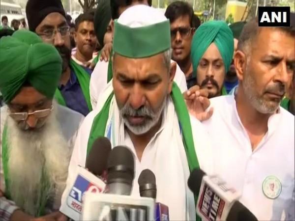 BKU leader Rakesh Tikait in Kolkata (Photo/ANI)