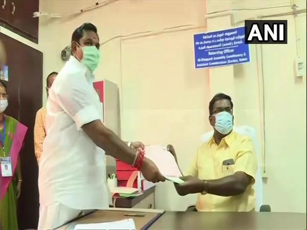 Tamil Nadu Chief Minister Edappi Palaniswami files his nomination in Edappi. (Photo/ANI)
