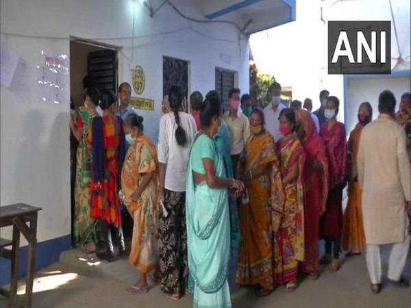 Polling underway for second phase of West Bengal assembly elections. (Photo/ANI)