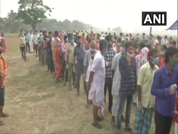 Polling underway at Nandigram (Photo/ANI)
