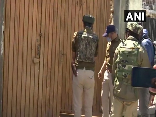 Visuals from outside Anwar Khan's house deferred by unspecified time (Photo/ANI)