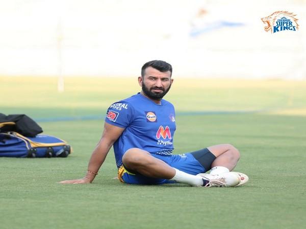 CSK batsman Cheteshwar Pujara (Photo/ CSK Twitter)