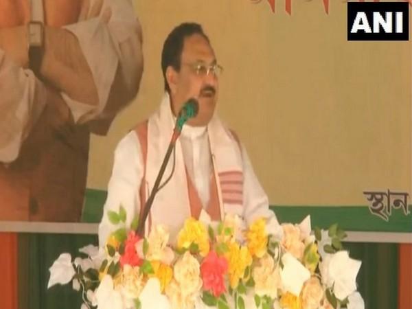 BJP chief JP Nadda in Assam's Dibrugarh (Photo/ANI)