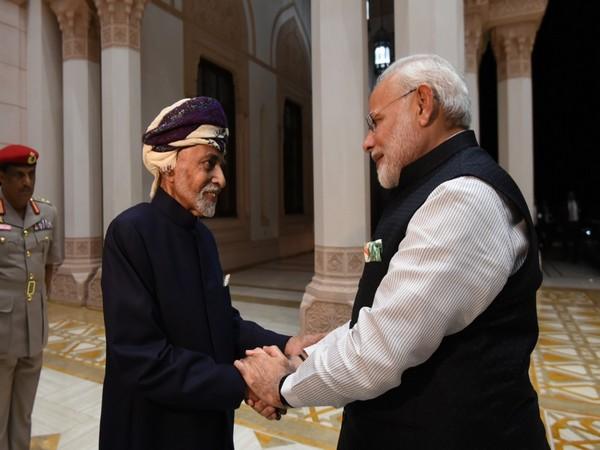 Sultan Qaboos bin Said and Prime Minister Narendra Modi