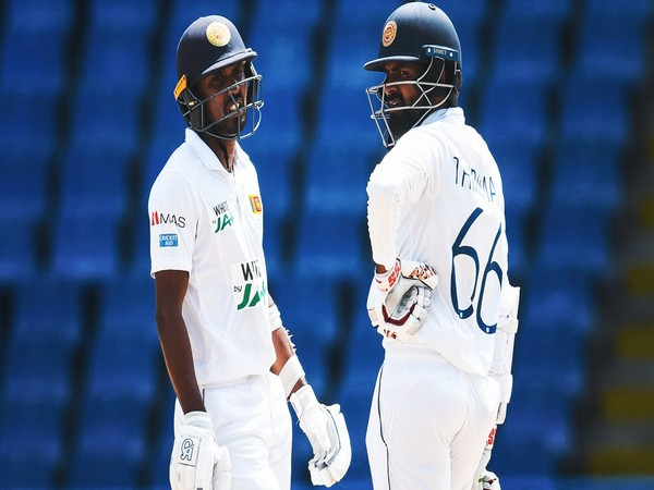 At stumps, Sri Lanka's second innings score read 255/4 with Pathum Nissanka and Dhananjaya de Silva on the field. (Photo/ ICC Twitter)