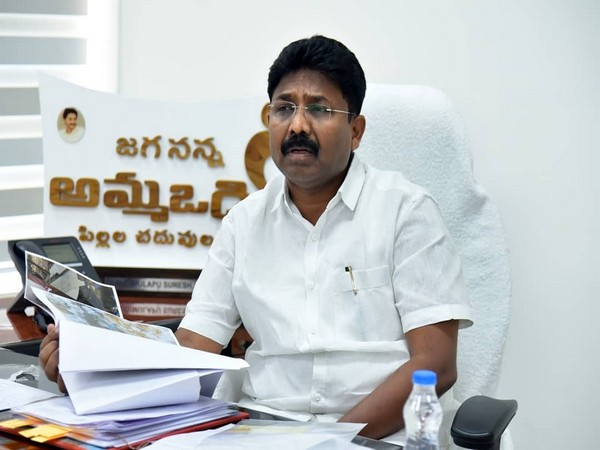 Andhra Pradesh Education Minister, Audimulapu Suresh (Photo/ANI)