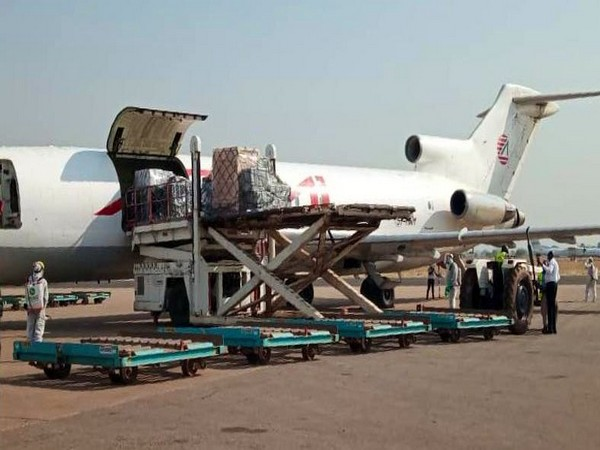 Consignment of COVID-19 Vaccine from India reaches  airport in South Sudan. (Photo Credit: EAM Twitter)