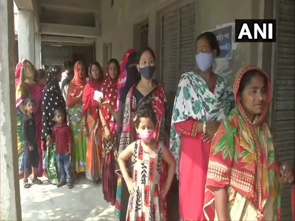 Visuals from a polling centre at Purba Medinipur, West Bengal. (Photo/ANI)