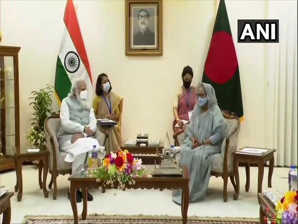 PM Narendra Modi holds delegation-level talks with Bangladesh PM Sheikh Hasina in Dhaka