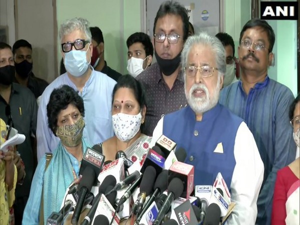 TMC leader Sudip Bandyopadhyay speaking to the media on Saturday. (Photo/ANI)