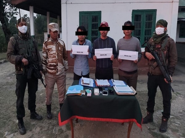 Security forces arrest three NSCN-IM cadres in Nagaland. (Photo: Assam Rifles twitter handle)