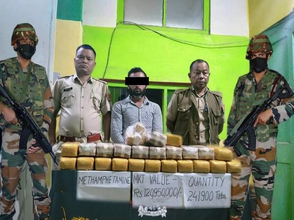 Security forces arrested a drug peddler in Mizoram. (Photo: Assam Rifles twitter handle)