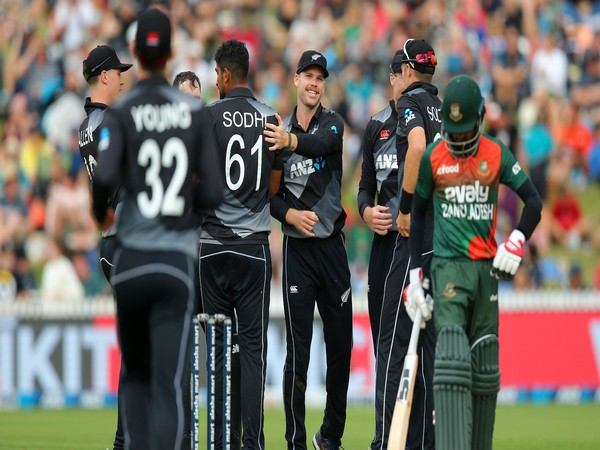 New Zealand secured a 66-run win in the first T20I against Bangladesh here on Sunday. (Photo/ ICC Twitter)