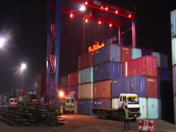 Visuals of Odisha's Paradip Port and the newly launched EXIM services.