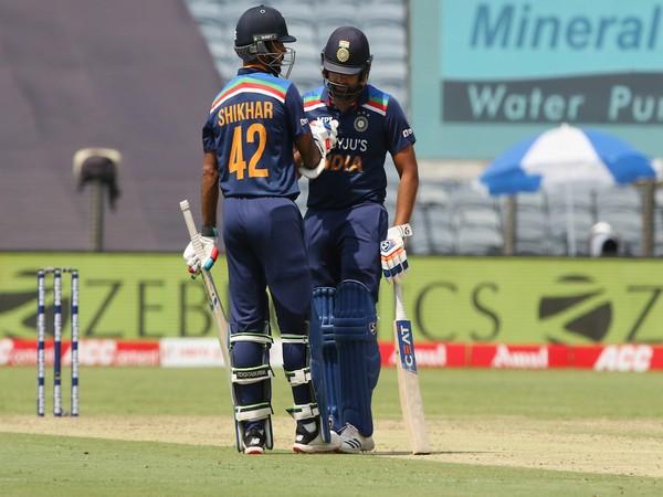 Rohit Sharma and Shikhar Dhawan (Photo/ BCCI Twitter)