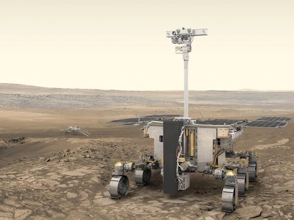 Artist's impression of the Rosalind Franklin Rover on Mars (Image credit: ESA/ATG Media Lab)