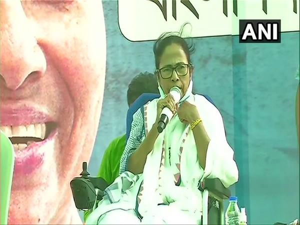 West Bengal CM Mamata Banerjee at Nandigram on Monday. (Photo/ANI)