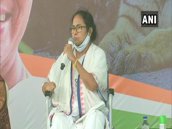 West Bengal Chief Minister Mamata Banerjee in Nandigram (Photo/ANI)