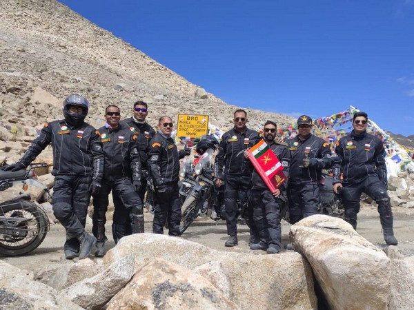 The eight-member team during the expedition in Ladakh. Photo/Indian Army