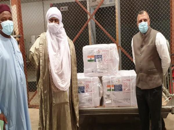 Made in India COVID-19 vaccines reach Niger (Photo Credit: Twitter/ S Jaishankar)