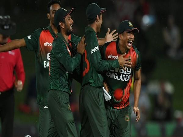 Bangladesh Men's Cricket players (Photo/ ICC Twitter)