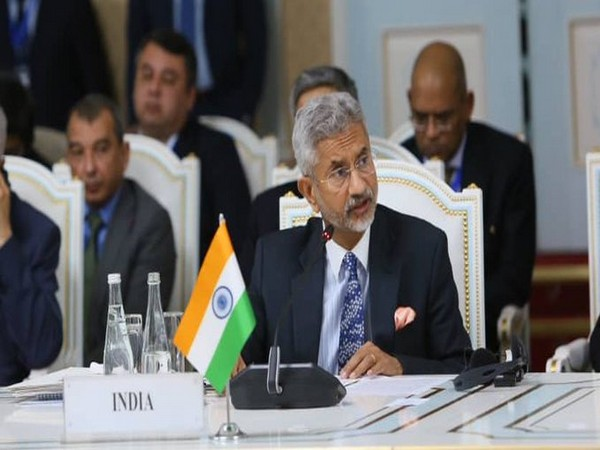 External Affairs Minister S Jaishankar at Heart of Asia conference in Tajikistan. (Photo: S Jaishankar/Twitter)
