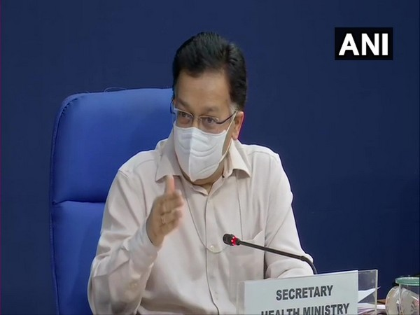Union Health Secretary Rajesh Bhushan addressing the media in Delhi on Tuesday. [Photo/ANI]