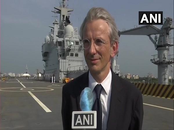 French Envoy to India Emmanuel Lenain speaking to ANI on Tuesday
