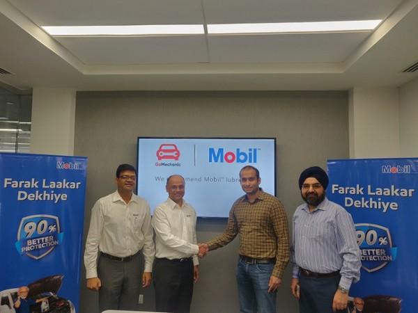 Partnership renewal ceremony between ExxonMobil Lubricants Pvt Ltd and GoMechanic