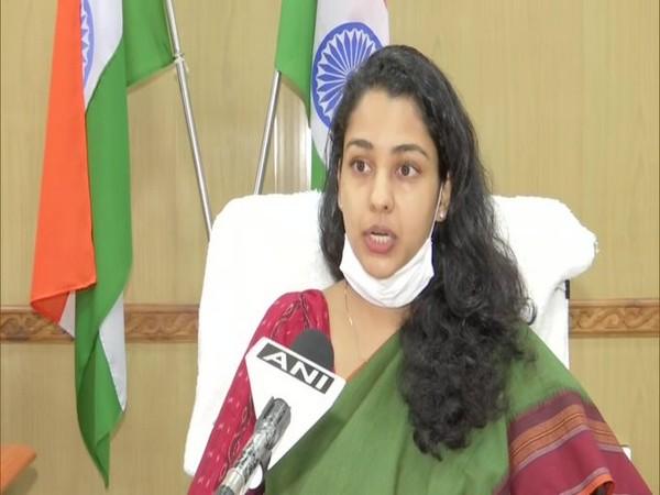 Puducherry district collector Purva Garg speaking to ANI on Wednesday. [Photo/ANI]