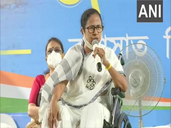 West Bengal Chief Minister Mamata Banerjee in Barasat on Tuesday. (Photo/ANI)