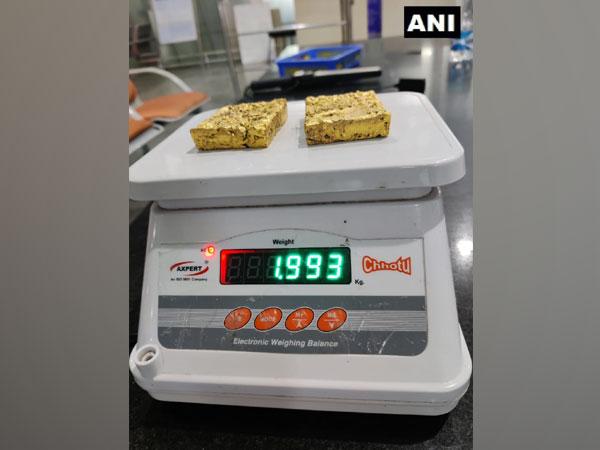 Gold seized at Mangalore International Airport. (Photo/ANI)