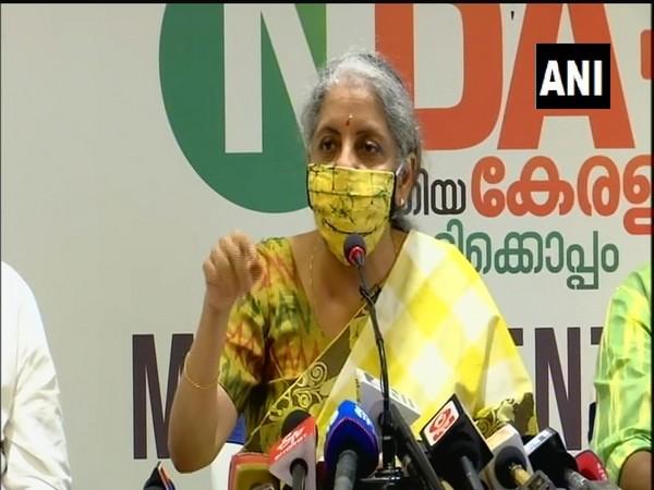 Union Finance Minister Nirmala Sitharaman during a press conference in Kerala. (Photo/ANI)