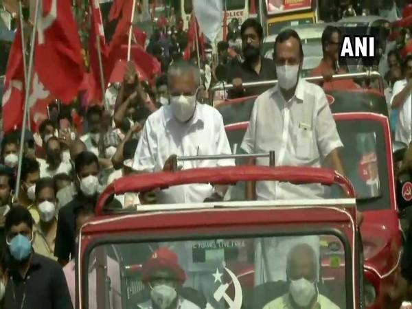 Kerala Chief Minister Pinarayi Vijayan during a roadshow in Kannur (File Photo)