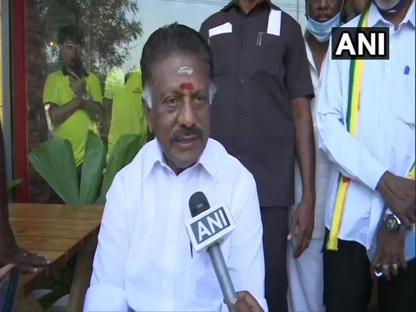 Tamil Nadu Deputy Chief Minister O Panneerselvam speaking to ANI