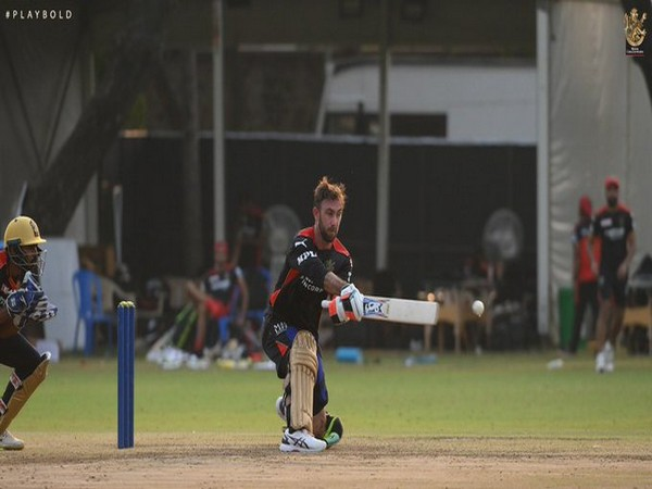 Maxwell during a RCB training session (Photo/ RCB Twitter)