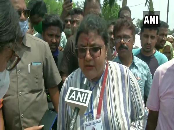 TMC candidate Sujata Mondal Khan speaking to ANI